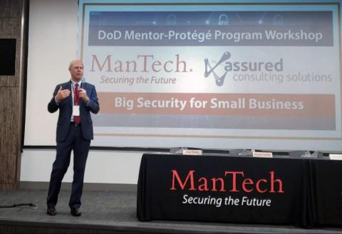 ManTech President and CEO Kevin Phillips at the DOD Mentor-Protege Workshop