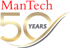 ManTech 50th year anniversary logo